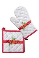 Ho Ho Ho Oven Mitt & Pot Holder Set