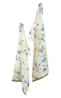 Packed Flowers Tea Towels