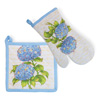 Blue Heirloom Oven Mitt & Pot Holder Set