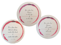 Pourtions Red Wine Cocktail Coasters