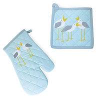 Seagulls Oven Mitt & Pot Holder Set