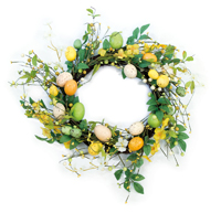 Yellow & Green Egg Wreath