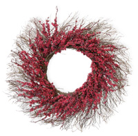 Twigs & Red Berries Wreath