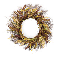 Purple & White Grass Wreath