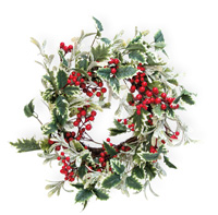 Frosted Holly & Ivy Berries Wreath