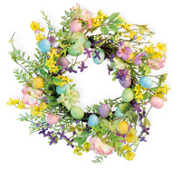 Pastel Flower & Egg Wreath