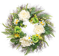 White Symphony Wreath