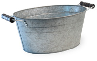 Oval Metal Bucket