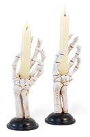 Skeleton Hand Taper Holders