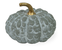Grey & Gold Patchy Small Pumpkin