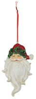 Holly & Ivy Santa Ornament