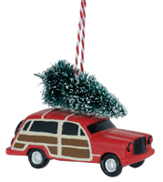 Woody Wagon Tree Ornament