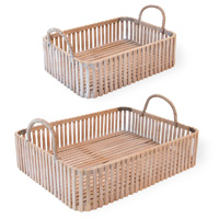 Reed Bamboo Tray Set