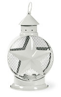 Americana White Star Tealight Lantern