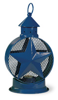 Americana Blue Star Tealight Lantern