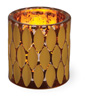 Indian Summer Glass Tealight Holder Amber/Copper