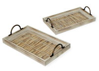 Natural Trays with Handles