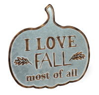 I Love Fall Pumpkin Sign
