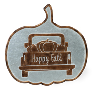 Happy Fall Truck Pumpkin Sign