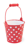Heart Bucket Red