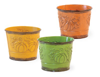 Mini Embossed Pumpkin Pails