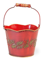 Red Holly & Ivy Pail