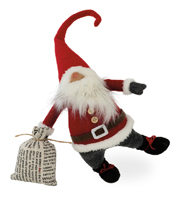 Santa Claus Gnome Shelf Sitter