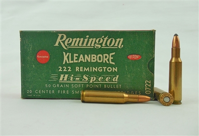 REMINGTON KLEANBORE 222 REMINGTON