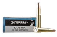 FEDERAL 30-30 WIN 150gr SOFT POINT FN 20rd BOX