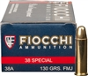FIOCCHI 38 SPECIAL 130gr FULL METAL JACKET