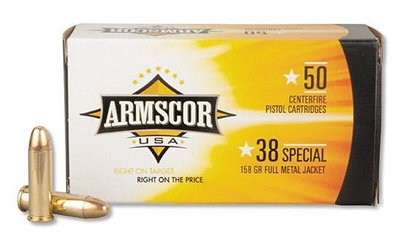 ARMSCOR 38 SPECIAL 158gr FMJ 50rd BOX