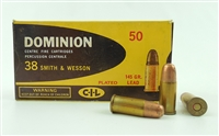 DOMINION 38 S&W 145gr PLATED LEAD