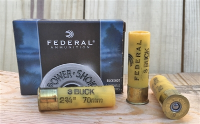 FEDERAL 20GA POWER SHOK 3 BUCKSHOT