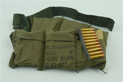 30 CARBINE LAKE CITY M1 BALL 120rd BANDOLEER