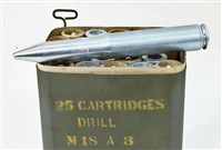 20mm M18A3 DUMMY ROUNDS 25rd SPAM CAN