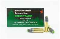 PINEY MOUNTAIN 22 LR 40gr GREEN TRACER