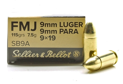 SELLIER & BELLOT 9mm 115gr FMJ