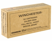 WINCHESTER 9mm 115gr FMJ 500rd CASE