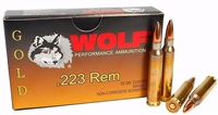WOLF GOLD .223 REM BRASS 1000 ROUND CASE
