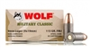 WOLF MILITARY CLASSIC 9mm 115gr FMJ 500rd CASE