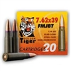 GOLDEN TIGER 7.62X39mm FMJBT STEEL CASE