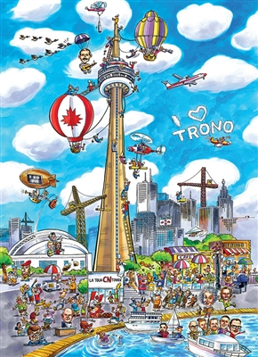 1000pc DoodleTown: Toronto jigsaw puzzle | Cobble Hill Puzzle Co