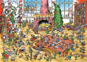 1000pc DoodleTown: Elves at Work jigsaw puzzle | 53506 | Cobble Hill Puzzle Co