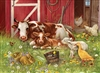 350pc Barnyard Babies jigsaw puzzle by Cobble Hill Puzzle Co. (mixed piece sizes)