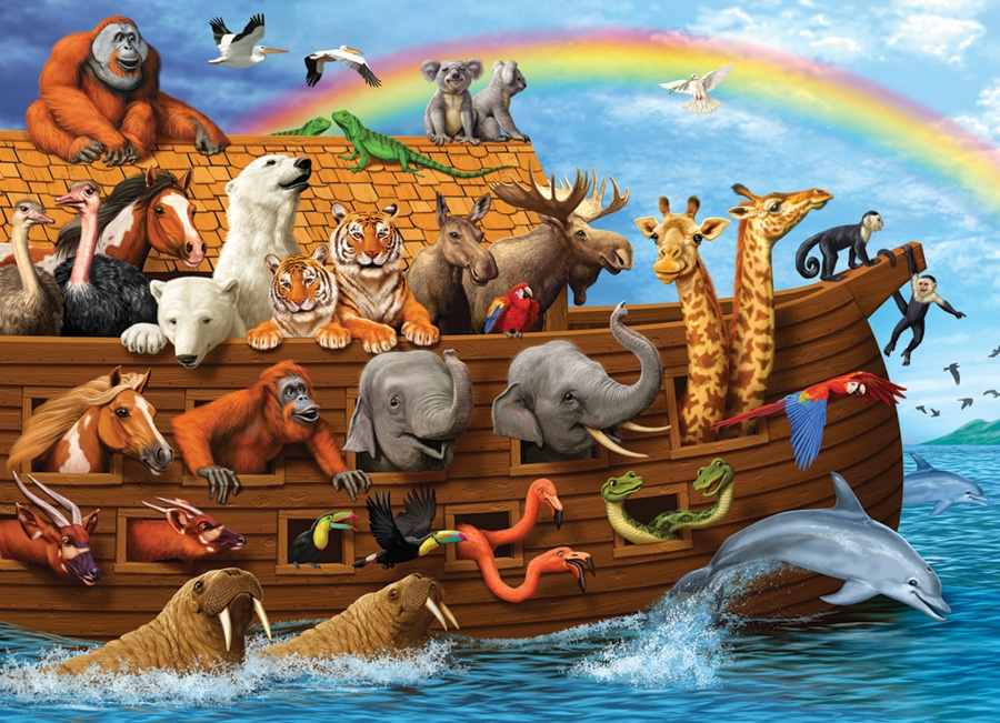 Cobble Hill 350 Piece Puzzle Voyage of The ARK Family