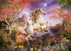 350pc Family Puzzle Realm of the Unicorn  jigsaw puzzle by Cobble Hill Puzzle Co. (mixed piece sizes)