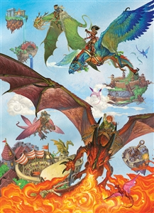 350pc Family Puzzle Dragon Flight  jigsaw puzzle by Cobble Hill Puzzle Co. (mixed piece sizes)