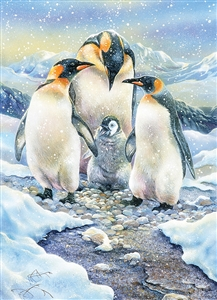Penguin Family (Family) Easy Handling 275 pc jigsaw puzzle by Cobble Hill Puzzle Co.