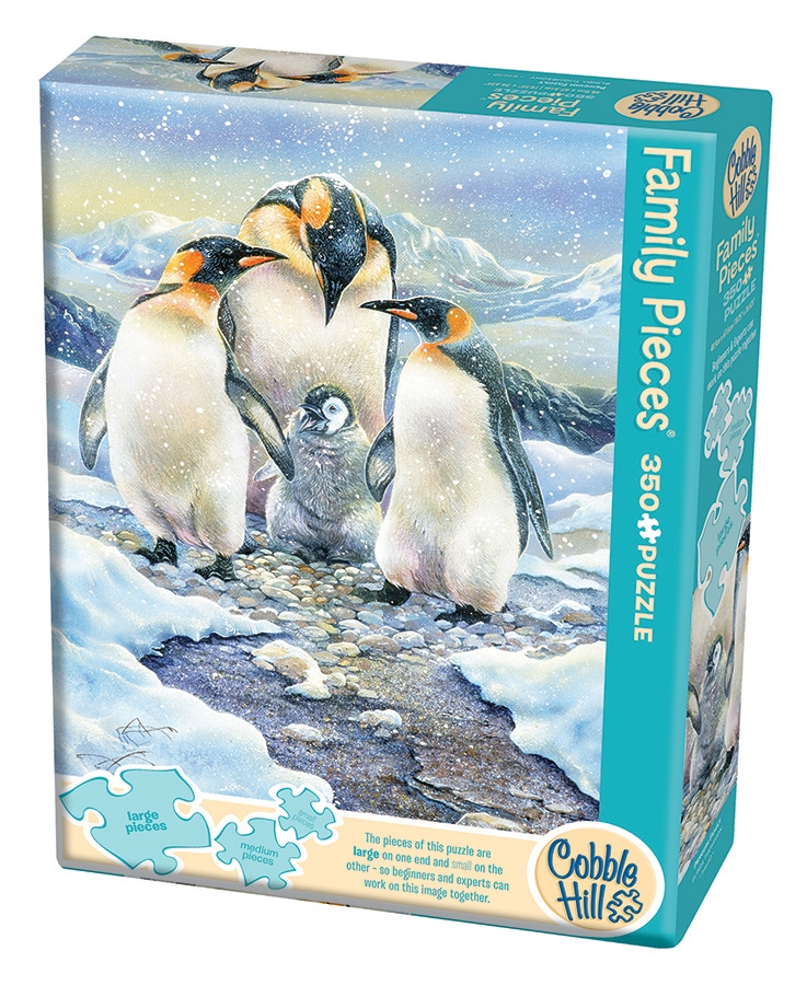 Penguin Family Family Easy Handling 275 Pc Jigsaw Puzzle By Cobble Hill Puzzle Co