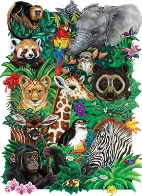 Safari Babies (Family) Easy Handling 275 pc jigsaw puzzle by Cobble Hill Puzzle Co.